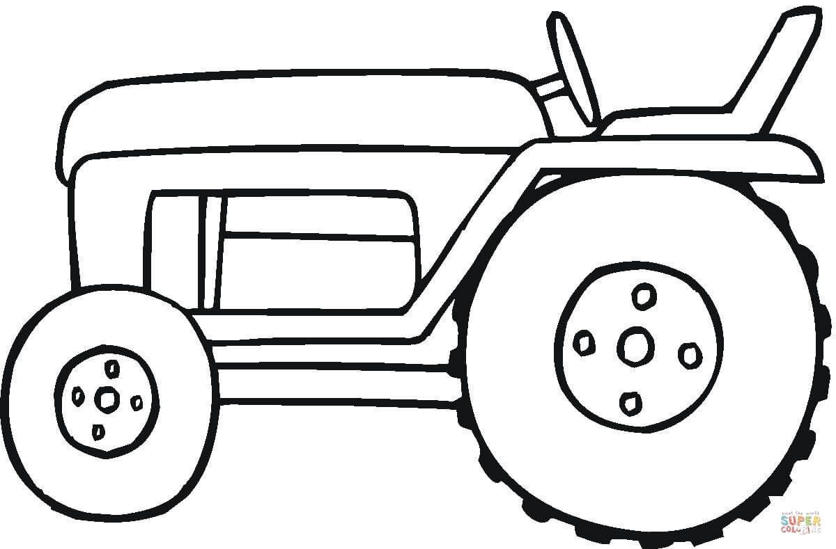 Small tractor coloring page from Special transport