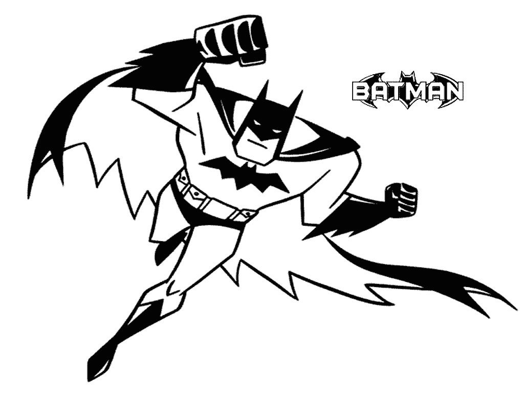 Batman coloring pages kids. Free printable for cards