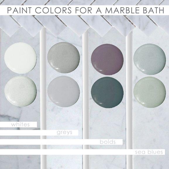Diy Blogger Stefanie Schiada Of Brooklyn Limestone Tells Glidden How To Work With The Marble Bathroo Marble Bathroom Bathroom Color Schemes Painting Bathroom