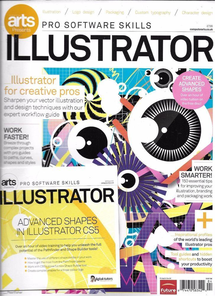 Computer Arts magazine Pro software skills Illustrator Projects - software skills