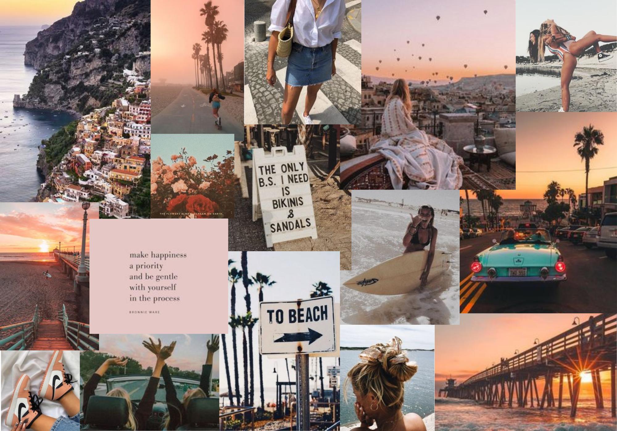 Collage Happy Summer In 2020 Desktop Wallpaper Art Macbook Wallpaper Halloween Desktop Wallpaper