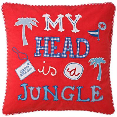 DECOILUZION - Funda de cojín Mi cabeza es una jungla 2
