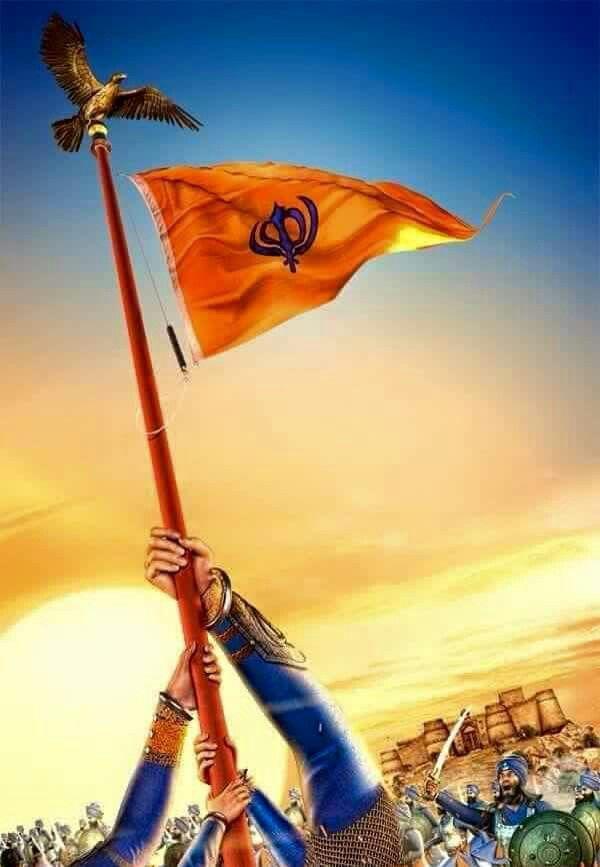 Flag of Khalsa   Sikhism   Pinterest   Flags
