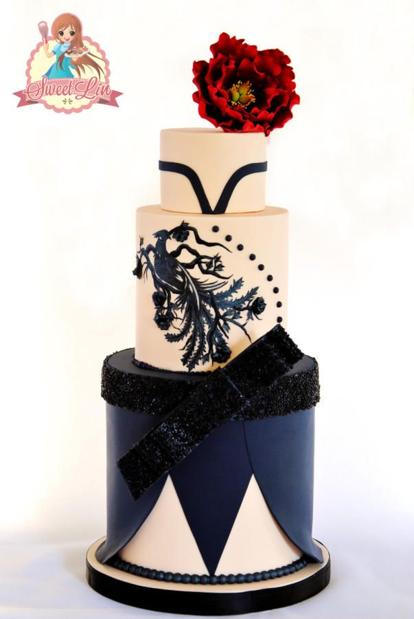 Phoenix and Peony Zuhair Murad Collaboration by SweetLin Cakes