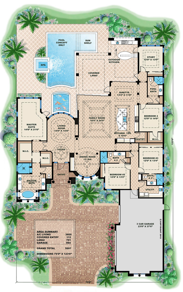 Swell Mediterranean Style House Plan 4 Beds 4 Baths 5607 Sq Ft Plan Largest Home Design Picture Inspirations Pitcheantrous