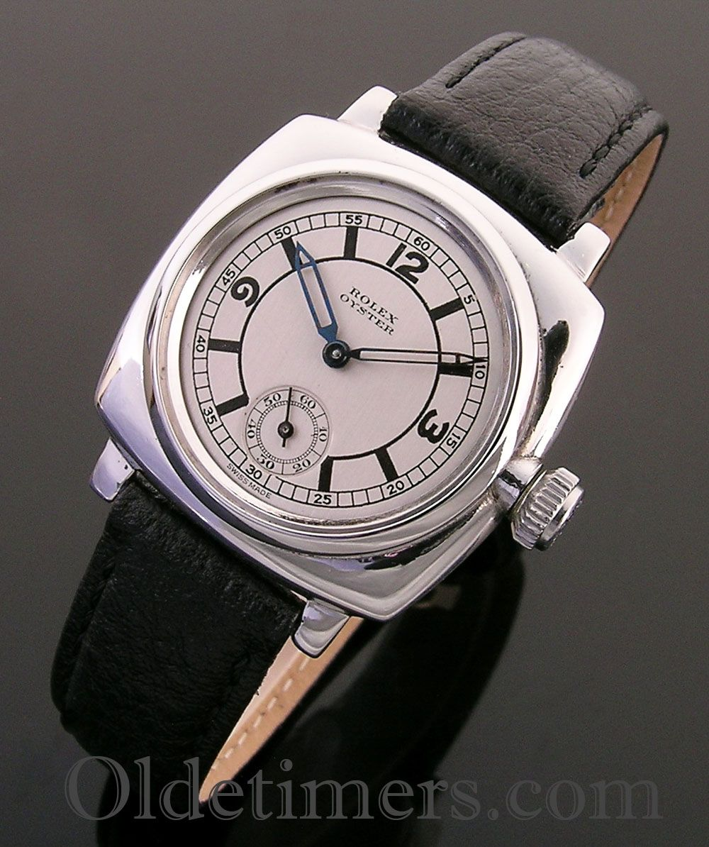 1928 silver cushion vintage rolex oyster watch vintage timepieces pinterest vintage rolex for Vintage rolex oyster