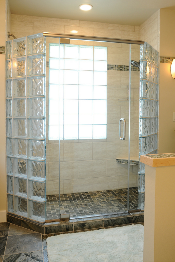 magnificent glass block shower 2016 photo recent selection