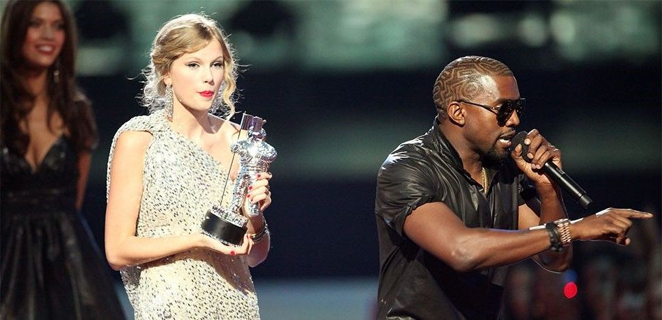 More Than A 10th Year Ago West Took The Stage After Swift Won The Vma In 2009 And The Complex Relationship Between In 2020 Kim K And Kanye Kanye Taylor Taylor Swift