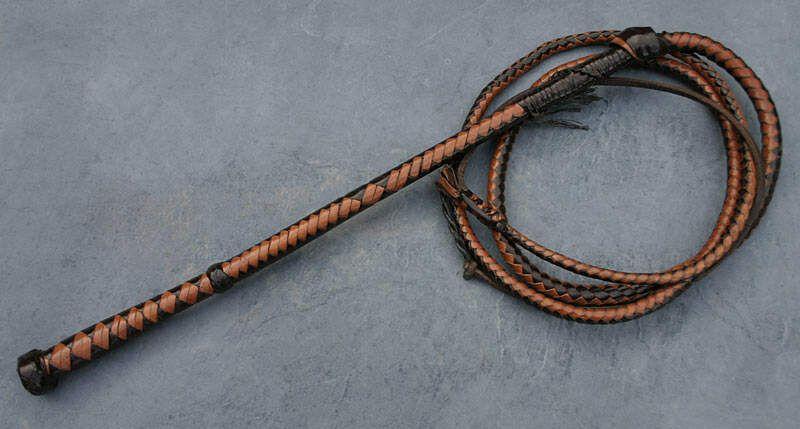 Kangaroo Hide Australian Stock Whip Leather Whip Bull Whip Leather Craft