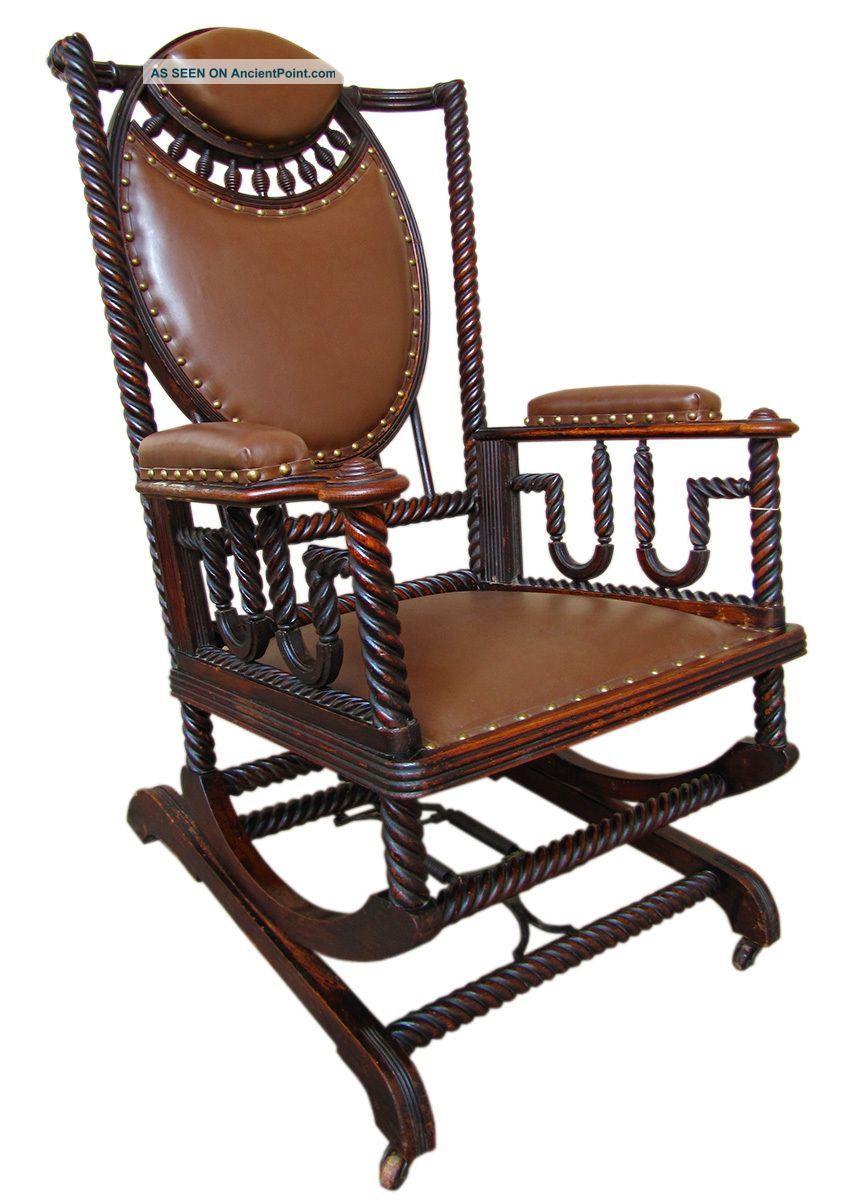 Good Antique Huntzinger Victorian Platform Rocker Chair
