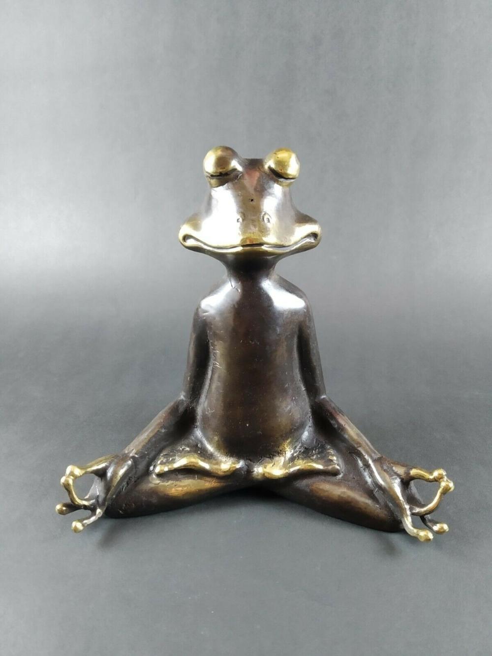 Unique Home Decor Set Of 3 Meditating Frog Statues