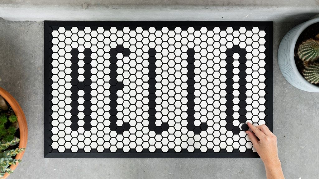 Tile Mat A Customizable Doormat for the Home by
