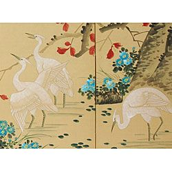big bathroom @Overstock - Elegantly handcrafted by a family in China, this silk framed wall art will add an Asian appeal to your home. This screen features a relaxing image of geese and folds in four sections, making it not only breathtakingly beautiful but customizable.http://www.overstock.com/Worldstock-Fair-Trade/Geese-in-the-Water-Silk-Screen-China/548836/product.html?CID=214117 $144.00