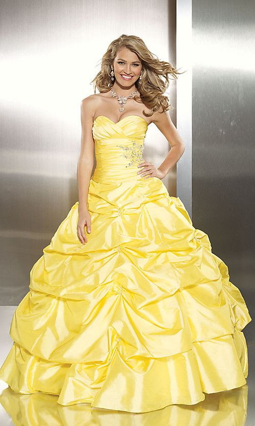 Yellow Ball Gown Prom Dresses | Yellow Prom