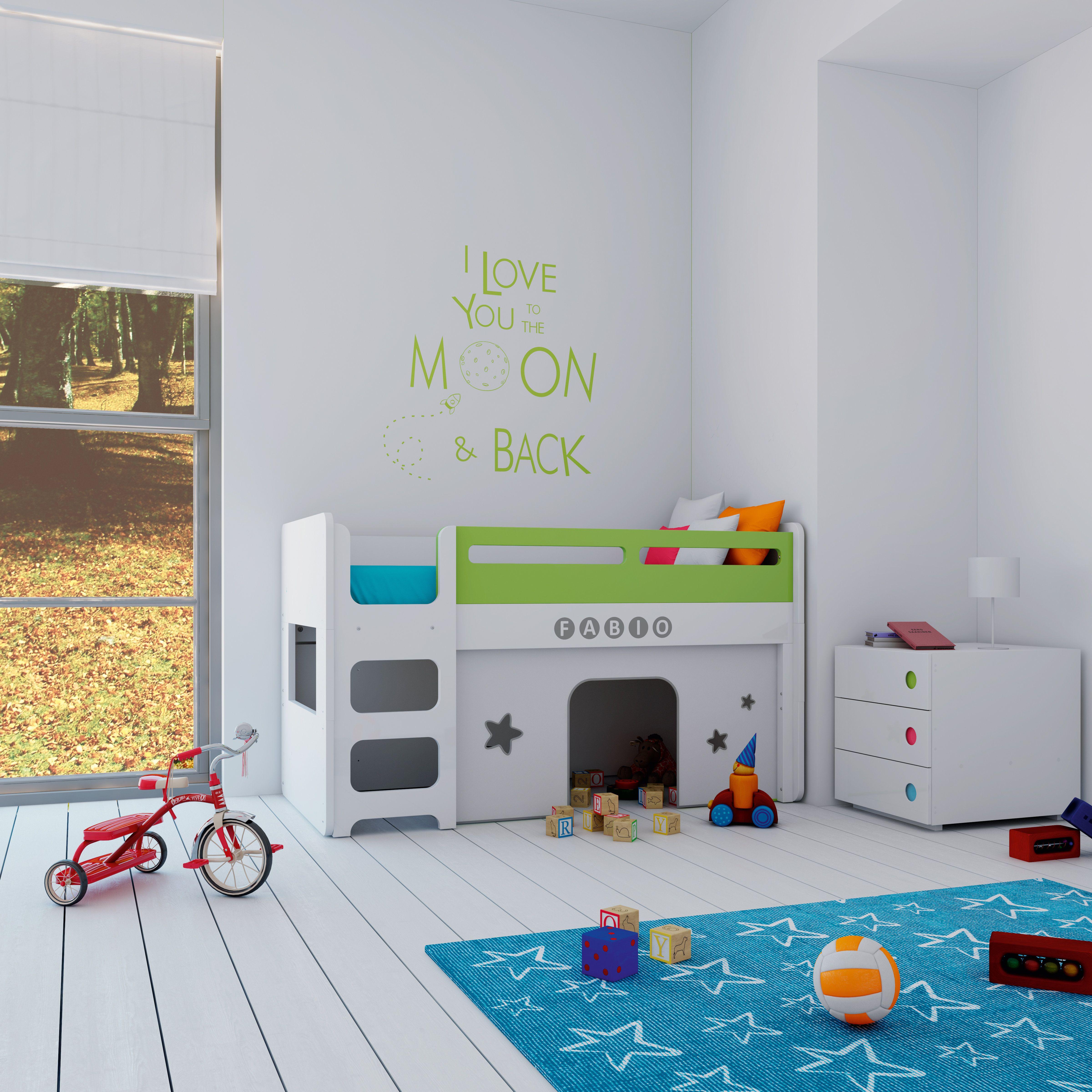 Cunas convertibles en literas con caba as de juegos habitaciones infantiles de ensue o - Habitaciones cuna convertible en cama ...