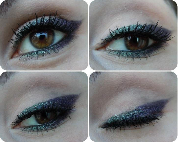EYELINER TUTORIAL :: Green to purple using the MAC MAC My Dark Magic und She Who Dares e/s'