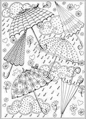 spring coloring sheets free printable unique spring rain umbrellas free printabl | 2126 in