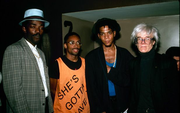 882a3c77 Spike Lee, Fab 5 Freddy, Basquiat, Andy Warhol | Faces | Pinterest
