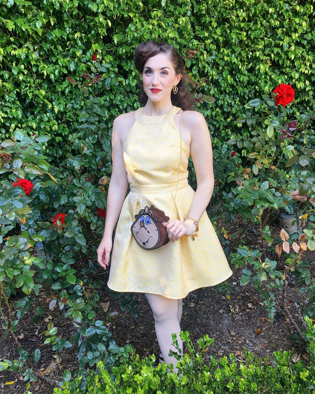 1bf9691a032 Yellow dress Belle Beauty and the Beast Disneybound Disneyland Cogsworth