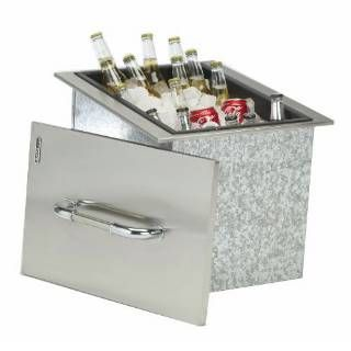 Ice Chest With Cover And Drain Stainless Steel Drop In