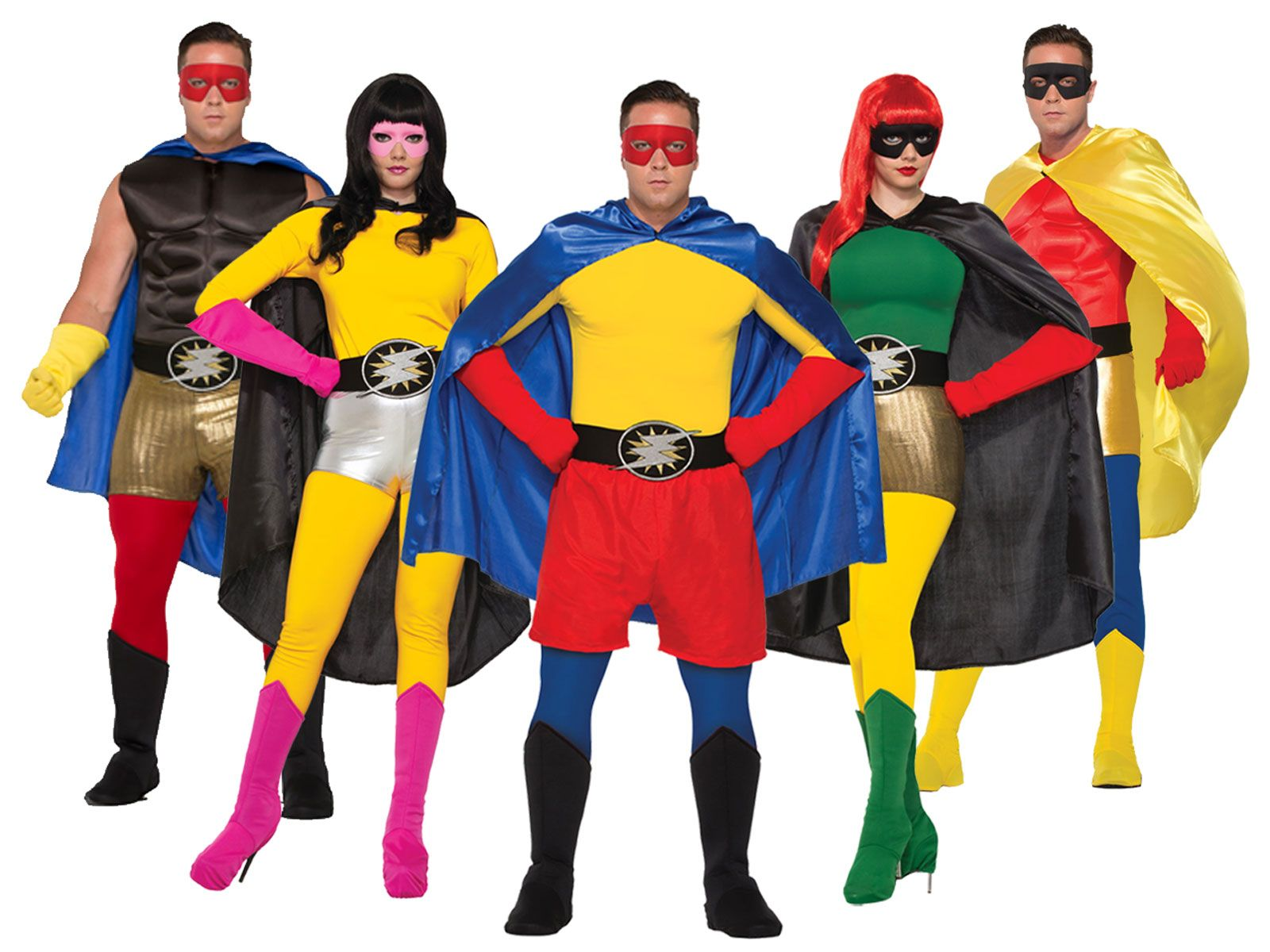Adults Wearing Superhero Capes