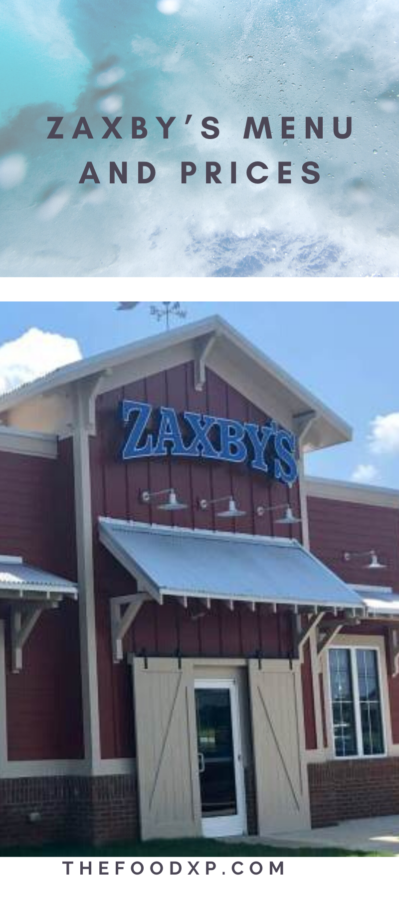 Zaxby's Menu with Prices 2020 Updated in 2020 Zaxbys