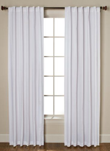 Beacon Looms Devon Panel Pairs 100 Percent Cotton Canvas With Rod