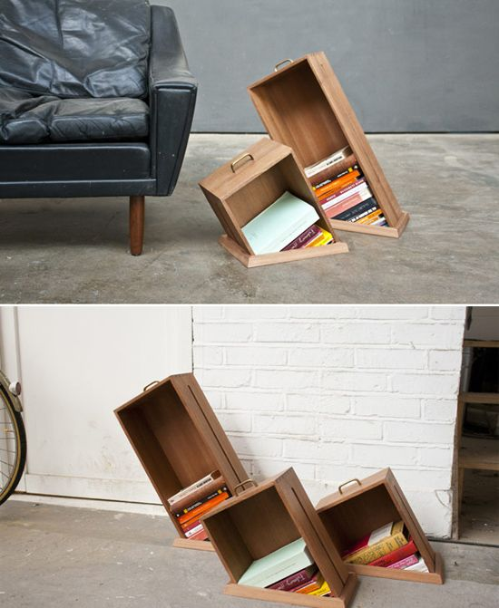 You could put them on the floor, in awkward corners- out of walls. Awesome.
