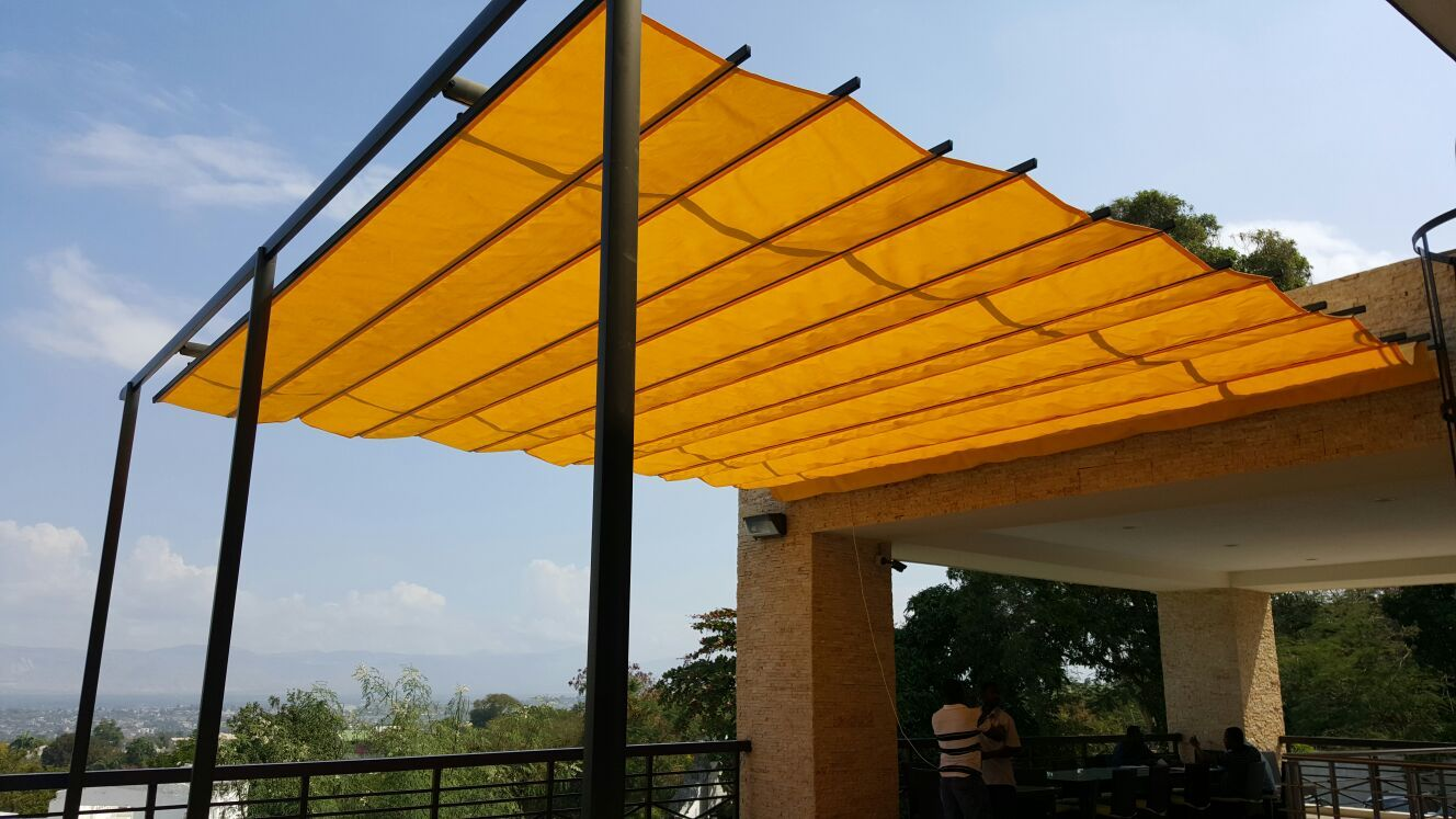 Madrid Model Retractable Canopy Pergola Awning For Sun