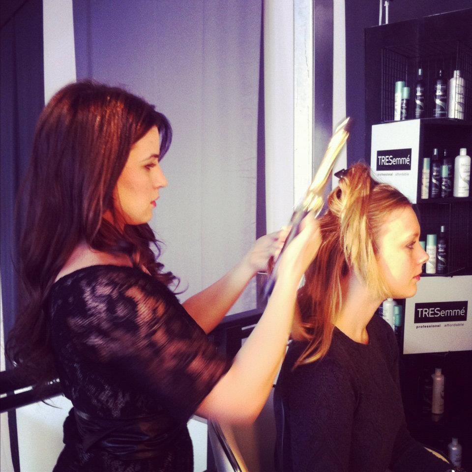Tresemme Stylist Mandee Styling At Our Mercedes Benz Fashion Week Salon In New York New York Mercedes Benz Fashion Week Stylists Fashion Week