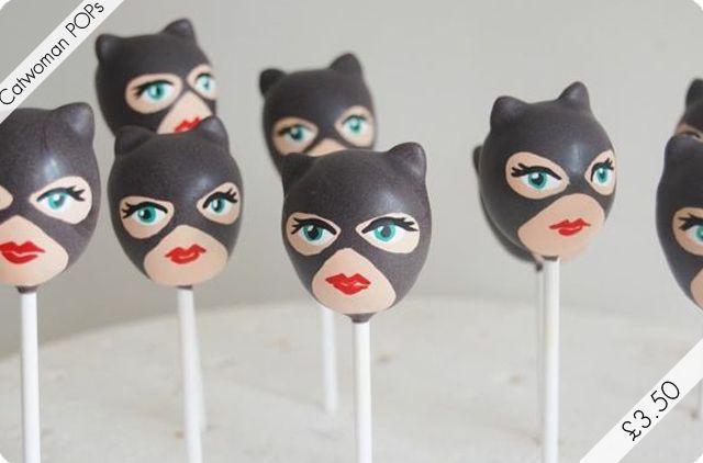 Catwoman Cake Pops Batman Superhero Birthday Parties
