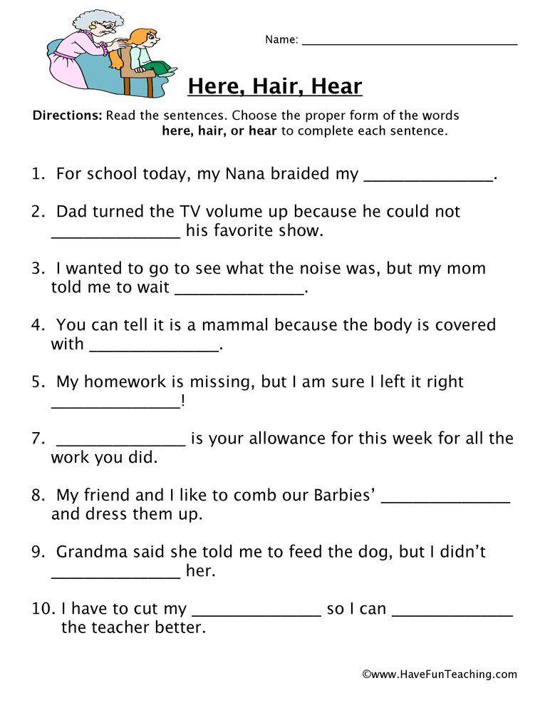 Homophones Resources Have Fun Teaching Homophones Worksheets Teaching Vocabulary Have Fun Teaching Homophone worksheets 2nd grade