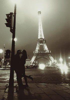 Beijar Eiffel Art Tower cartaz 16x20