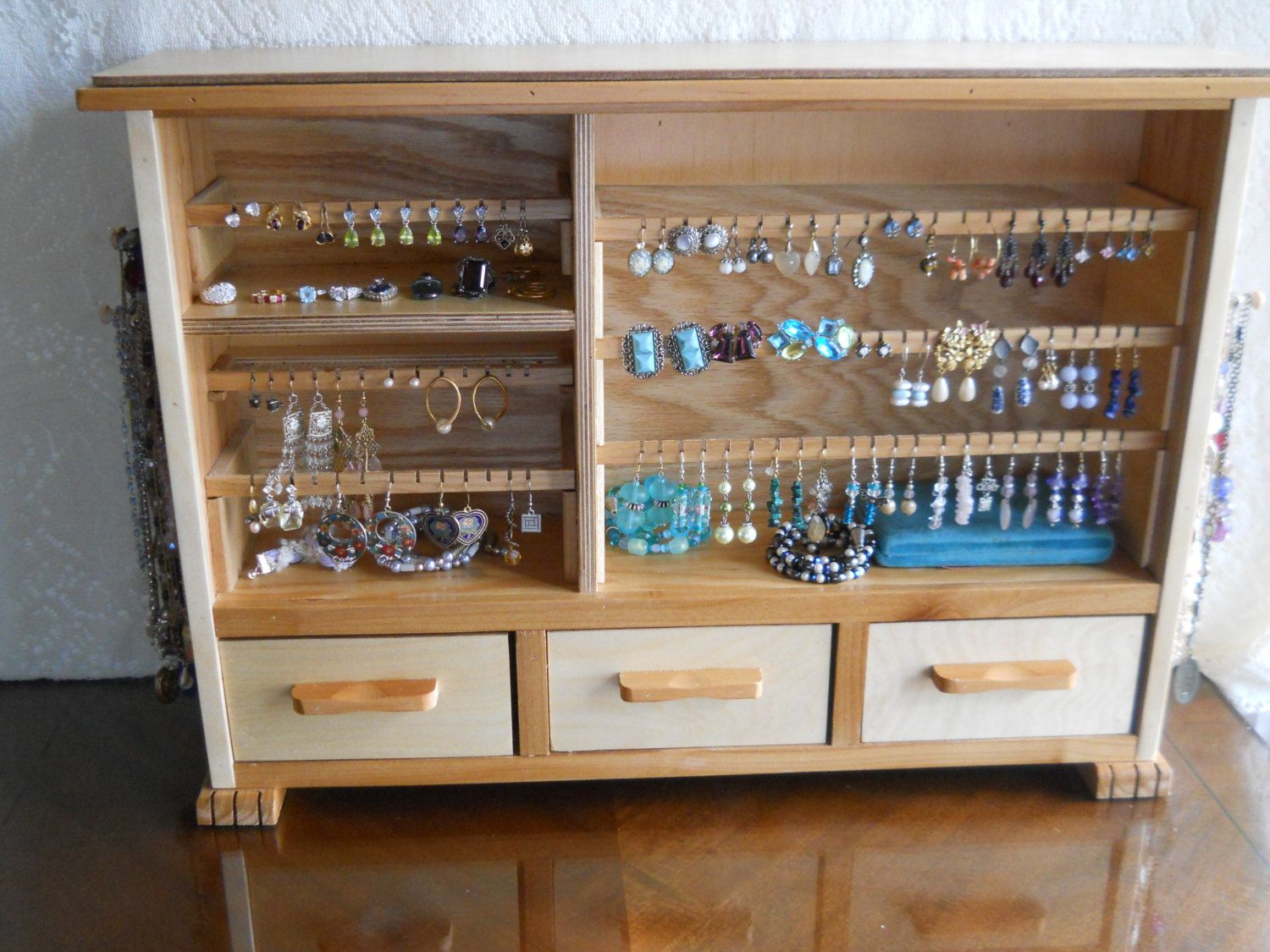 RESERVED FOR LR Jewelry Organizer 27x19 Earring Organizer