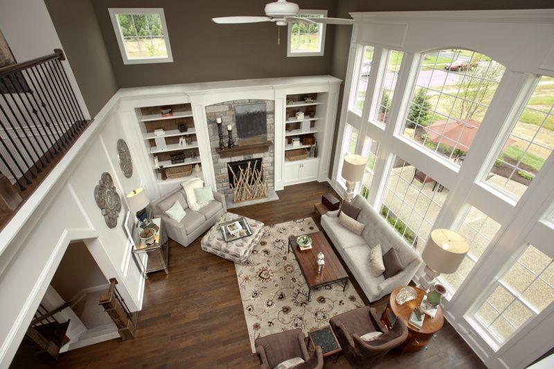 3 Pillar Homes Custom Homes In Columbus Ohio Farm House Living Room Great Room Layout Home