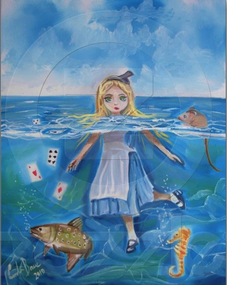 Alice in Wonderland the pool of tears by G Bruce