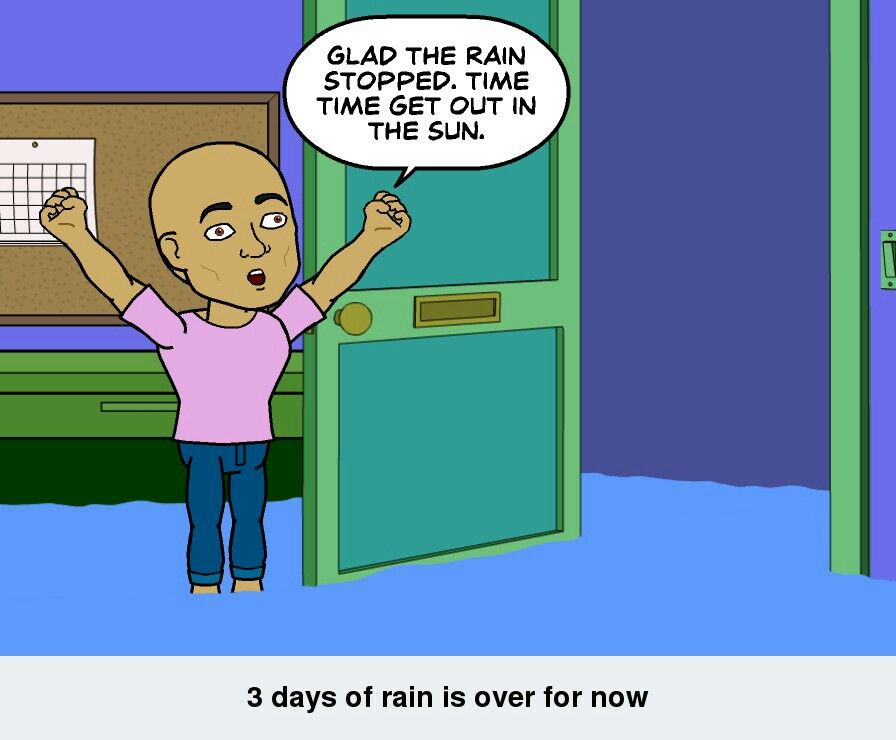 Had some great sleep while it was raining. Not it's time to play in the sun #iamsohappy #bitstrips