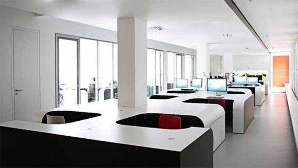 futuristic cubicle  interior office design  office  Pinterest