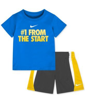 "Nike Baby Boy Clothes Cool Nike Baby Boys' ""#1 From The Start"" Tshirt & Shorts Set  Baby Inspiration"
