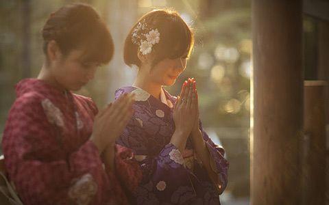 omairi at Shinto shrine