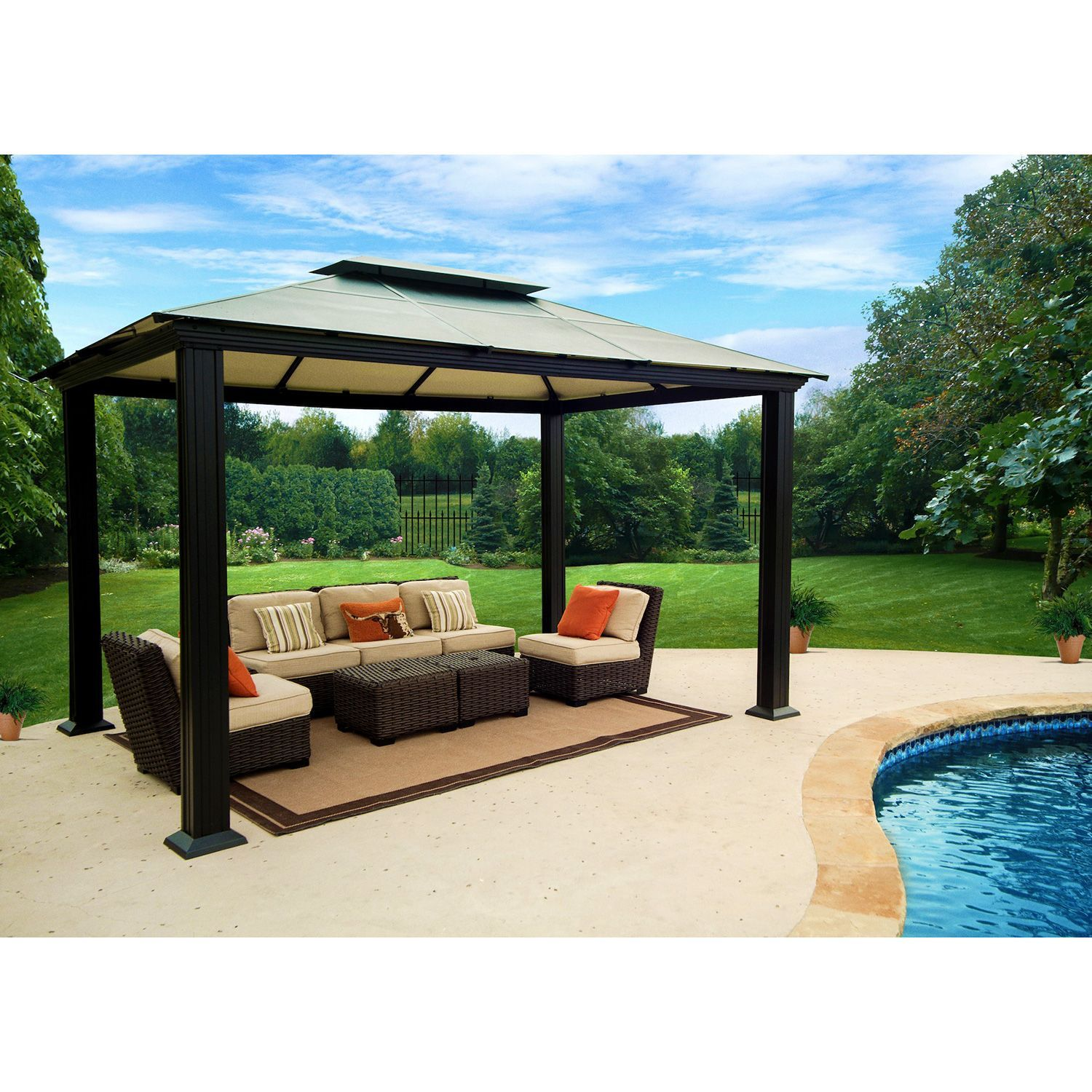 Southhampton Gazebo 10 X 13 Sam S Club Outdoor Living Space Design Aluminum Gazebo Pergola