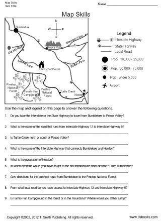 TLSBooks FREE Worksheets Map Skills worksheet Grade