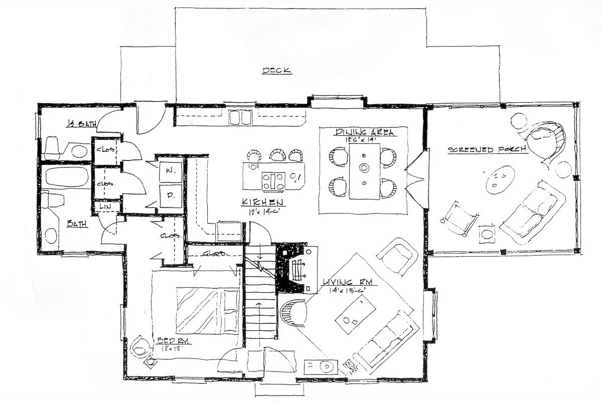 Colonial Style House Plans 3 Beds 2 5 Baths 1680 Sq Ft Plan 530 1 Main Floor Houseplans
