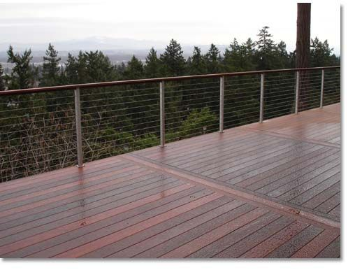 Creative Fences Deck Portland Or Railings Wood Iron Cable Horizontal Wire