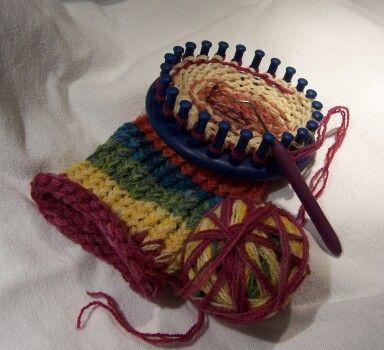 leg warmers pink knifty knitter | Loom Knitting | Pinterest