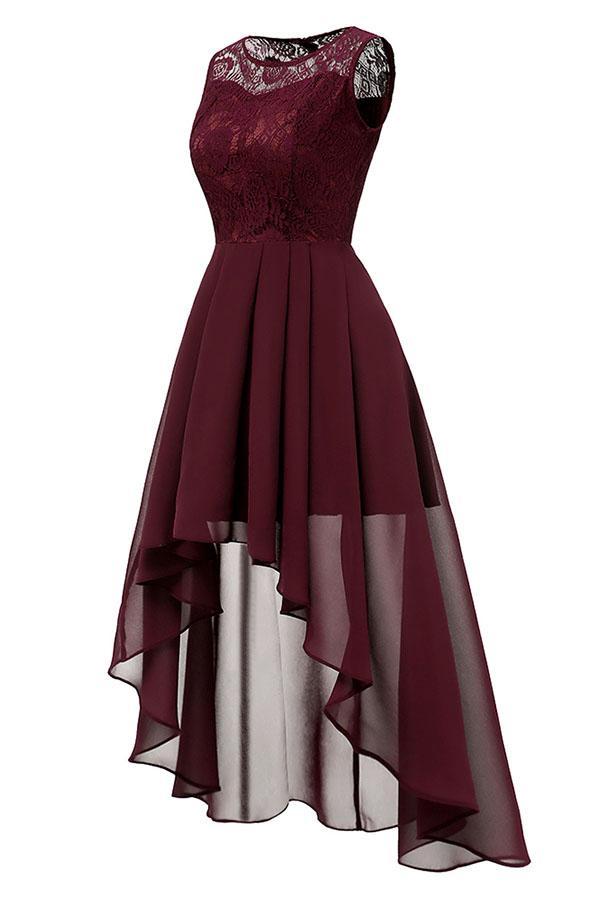 Women Elegant Lace Long Dress