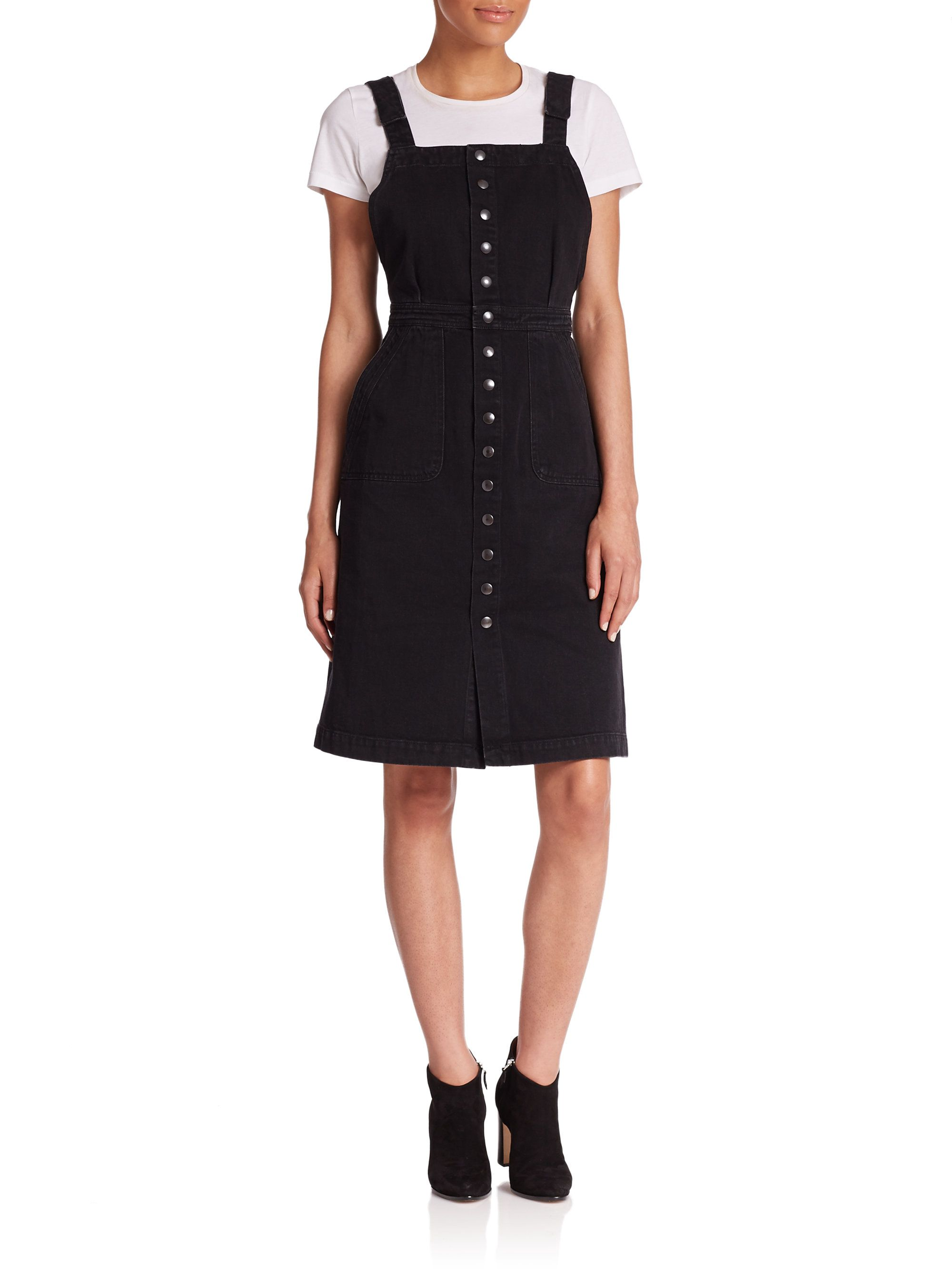 Mih Jeans Black Eastman Denim Overall Dress Denim Overall Dress Clothes Overall Dress [ 2667 x 2000 Pixel ]