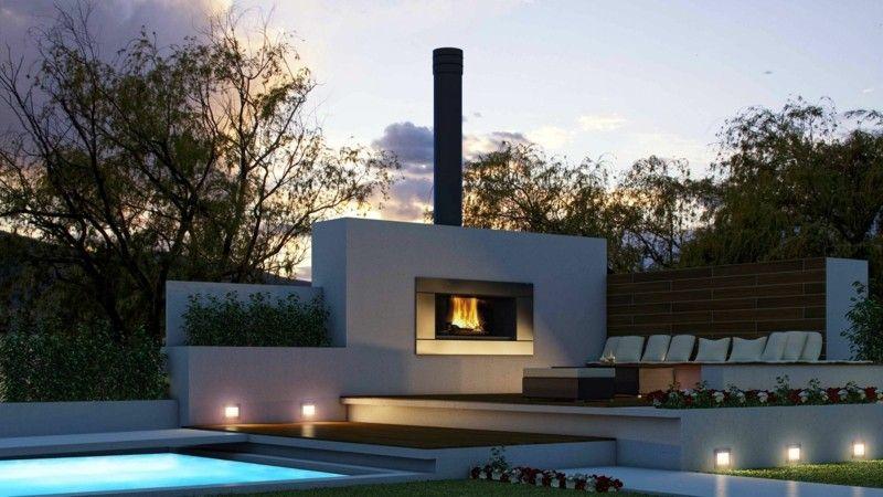 Dieser Gartenkamin ist modern und minimalistisch | Garten ...