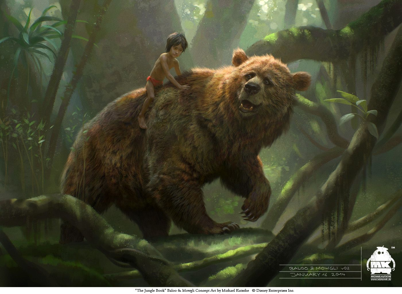 The Jungle Book Baloo And Mowgli Concept By Michaelkutsche On Deviantart Jungle Book Character Design Concept Art World