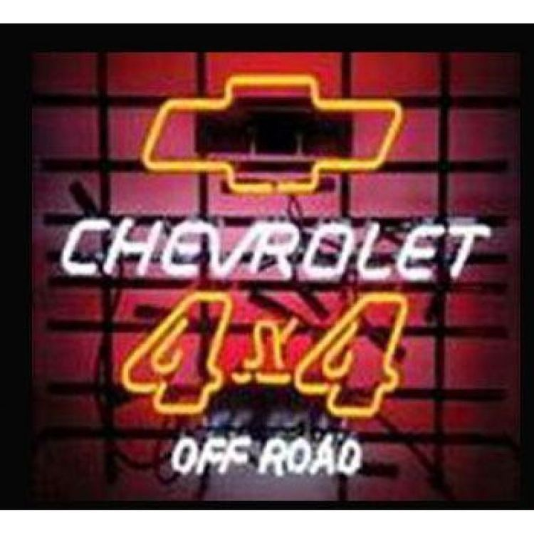 Chevrolet 4X4 f Road Neon Sign Real Neon Light